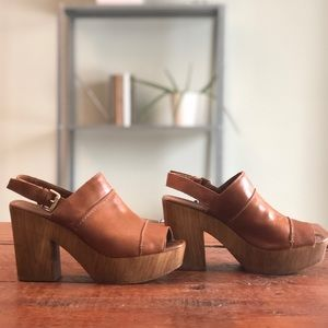 Platform Leather Clogs